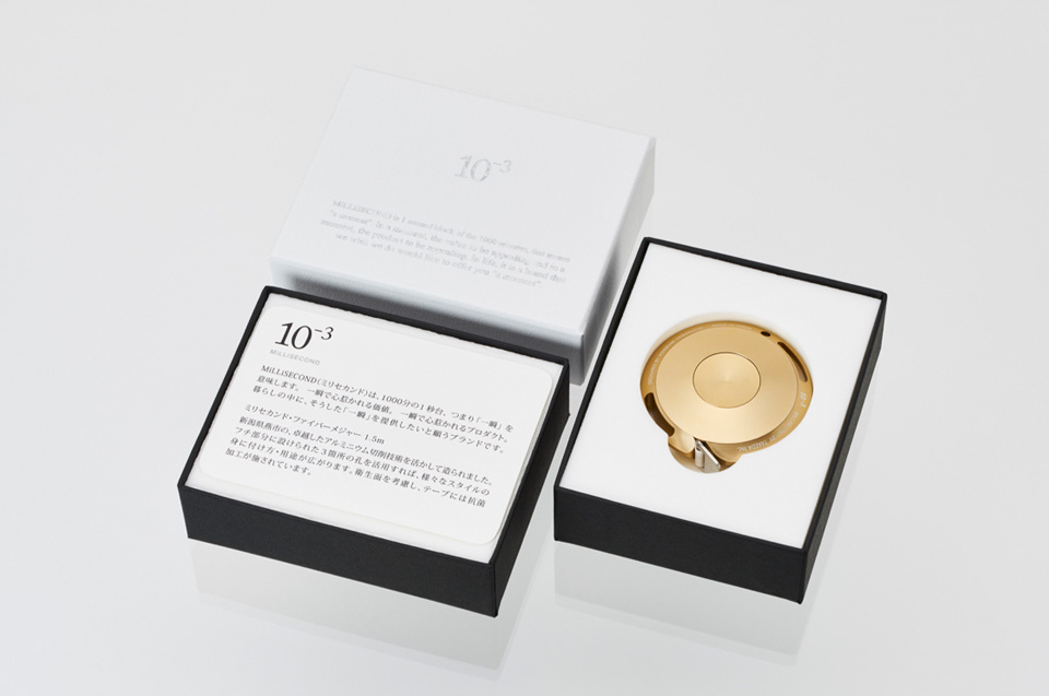 MiLLiSECONDミリセカンド・ファイバーメジャー Designed by Hidebumi Yamaguchi